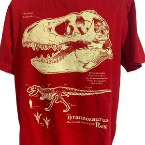 Boys T-Rex Fossil Short Sleeved Shirt Size Medium